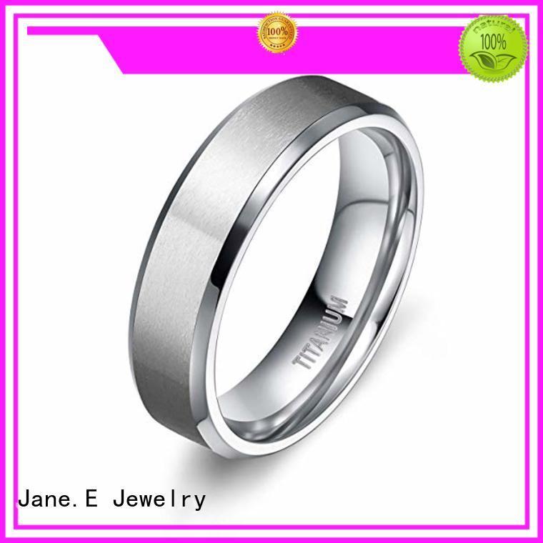 JaneE polished edge titanium ring blanks simple for anniversary