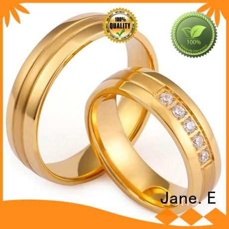 factory direct custom stainless steel rings gunmetal top quality for weddings