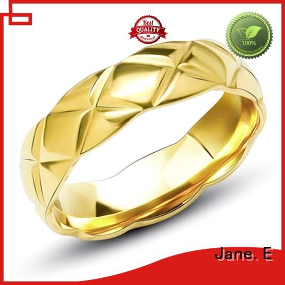 factory direct stainless steel promise rings for her inlay comfortable for weddings