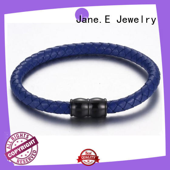 JaneE with genuine leather strap bangle for women exquisite manufacturer