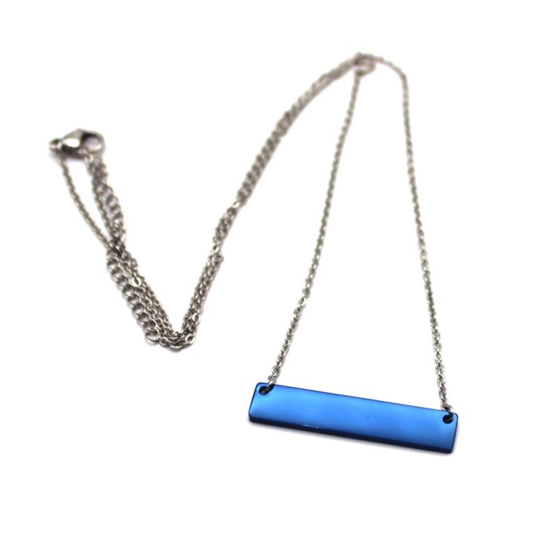 letter engraved stainless steel personalized necklace brushed surface factory direct for decoration-3