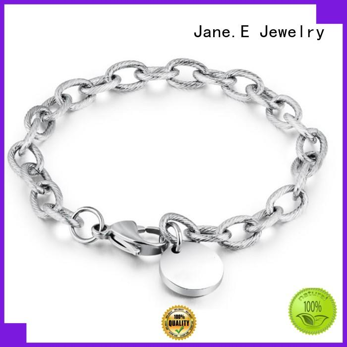 JaneE 316l bracelet stainless steel customized for gifts