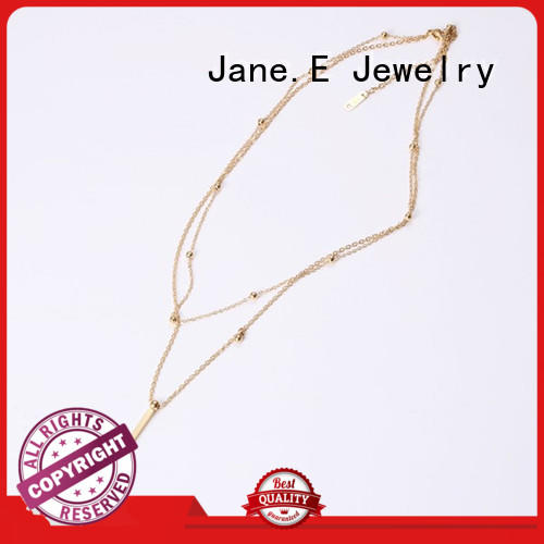 JaneE brushed surface stainless necklace different dimension manufacturer