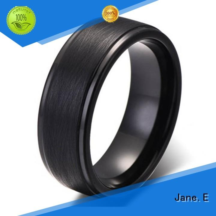 JaneE traditional custom tungsten ring exquisite for wedding
