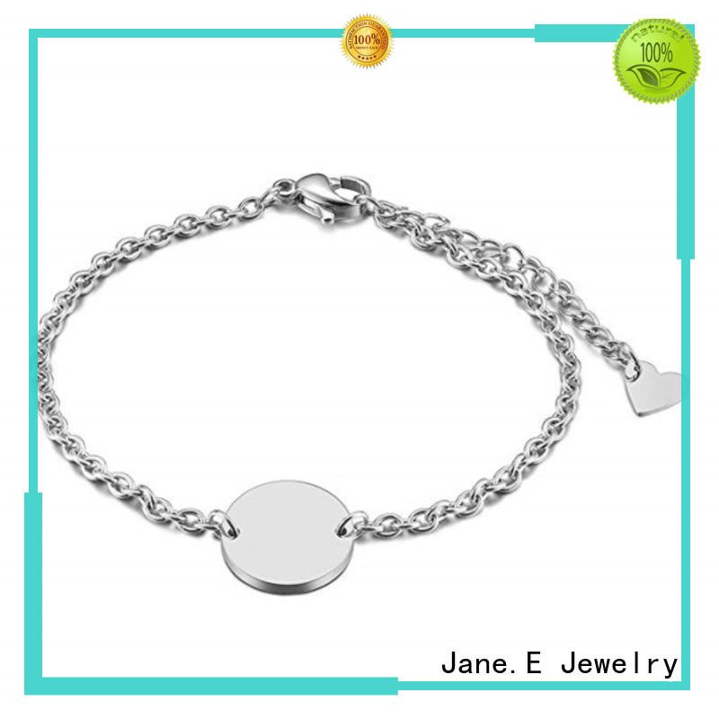 Minimalist Disc Coin Charm Bracelet 316L Stainless Steel Gold Silver Rose Gold