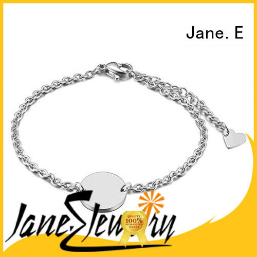 JaneE manual polishing steel bracelet customized for decoration