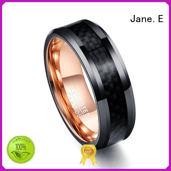 multi colors blue tungsten ring meteorite engraved for engagement