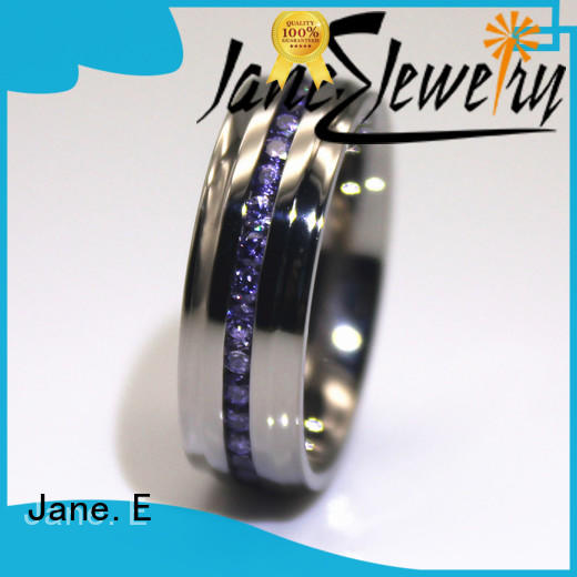 square edges stainless steel rings for her plated fashion design for weddings