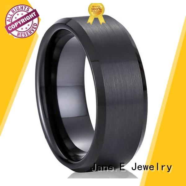 customized stainless steel wedding rings gunmetal top quality for weddings