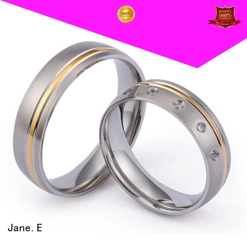 JaneE hypoallergenic titanium ring factory direct for engagement