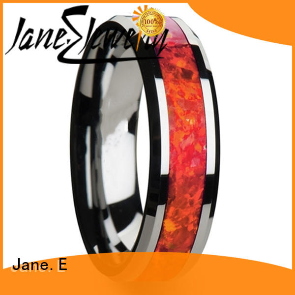 JaneE multi colors gold tungsten ring exquisite for wedding