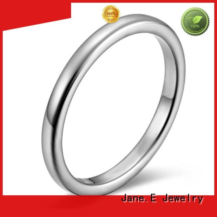 JaneE brown stainless steel engagement rings top quality for decoration