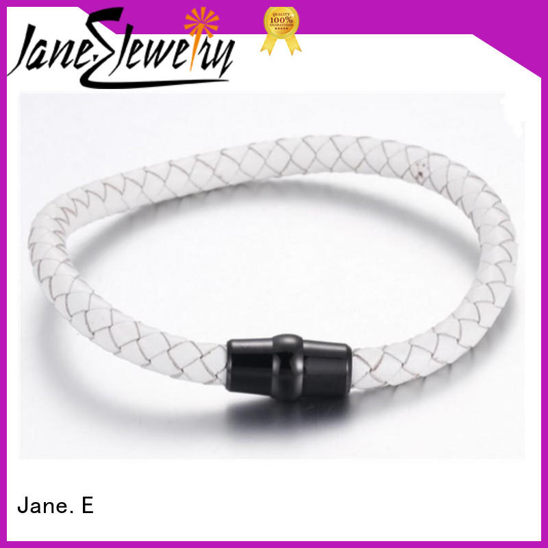 custom made bangle for men with genuine leather strap hot selling for gift