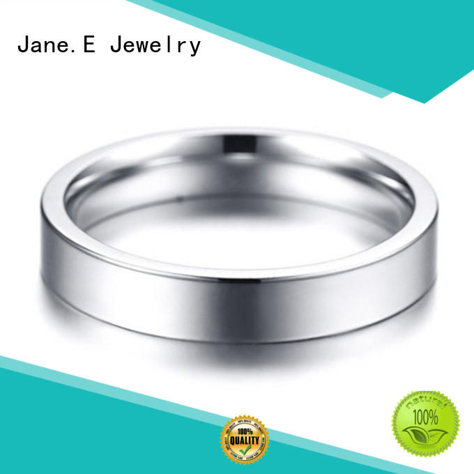 JaneE AAA CZ Stones stainless rings multi colors for weddings