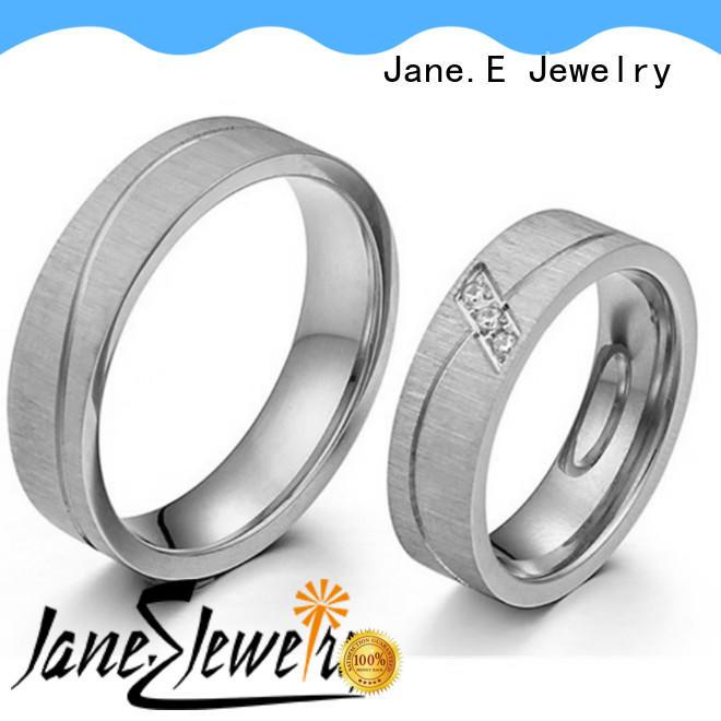 factory direct women's stainless steel wedding rings blue fashion design for men