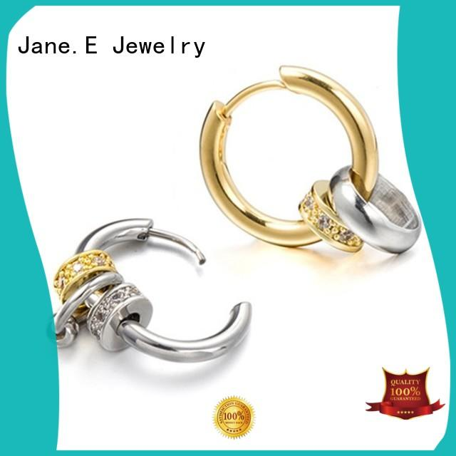 exchangeable surgical steel hoop earrings rose gold customized for women