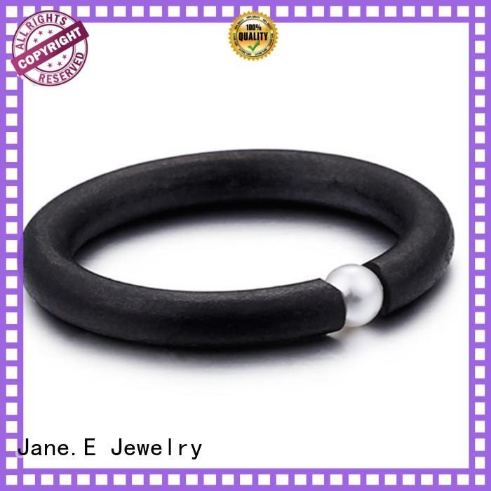 brown steel engagement ring top quality for weddings JaneE