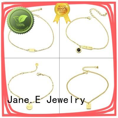 JaneE 316l women's stainless steel bracelets customized for decoration