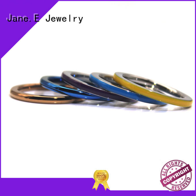 customized steel wedding rings plating fashion design for men
