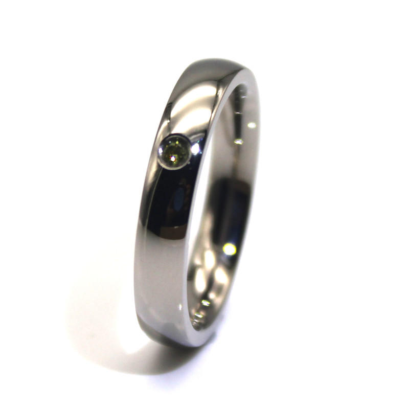 JaneE shiny stainless steel ring comfortable for weddings-2