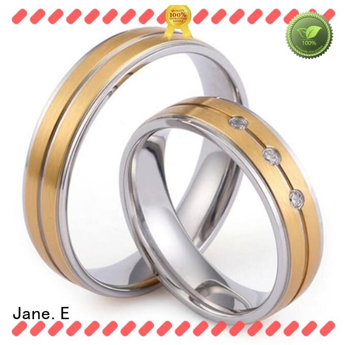 factory direct ladies stainless steel rings brown fashion design for weddings