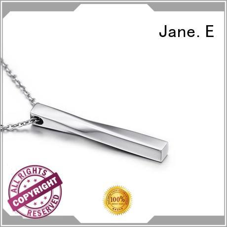 JaneE new design mens stainless steel pendant custom for men