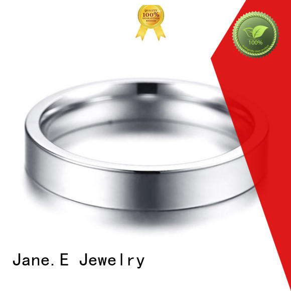 plated women's stainless steel rings inlay for men JaneE