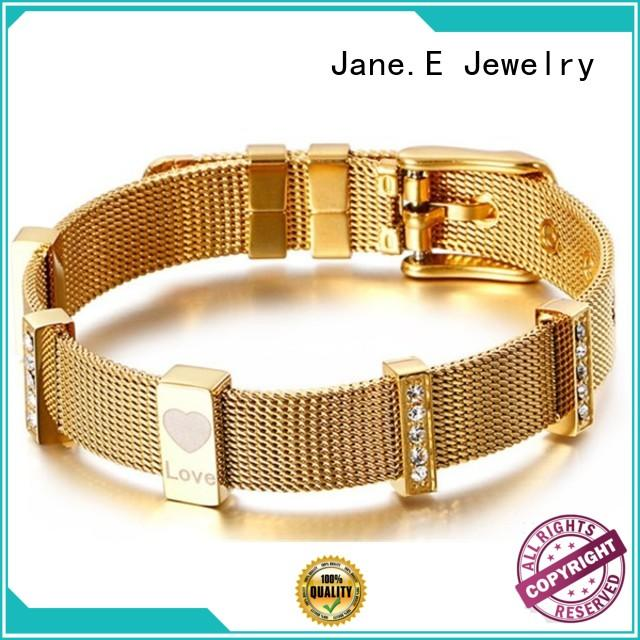 JaneE with stainless steel watch band mens stainless steel bangle exquisite supplier
