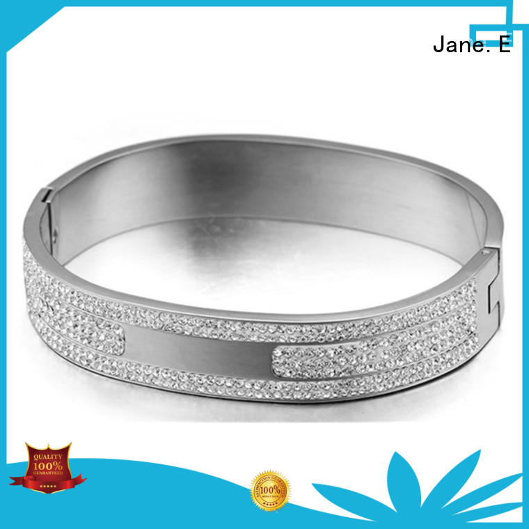 JaneE surgical stainless steel bangle bracelets exquisite for gift
