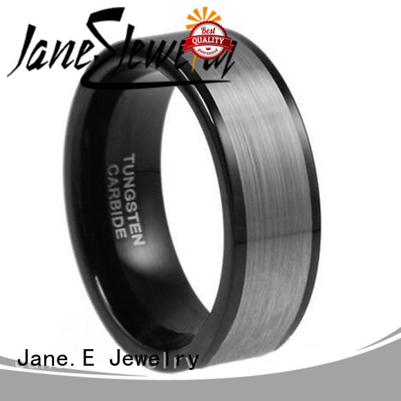 unique design tungsten carbide mens rings red opal engraved for engagement