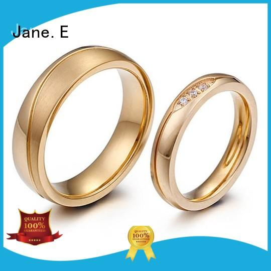 JaneE factory direct mens stainless rings top quality for weddings