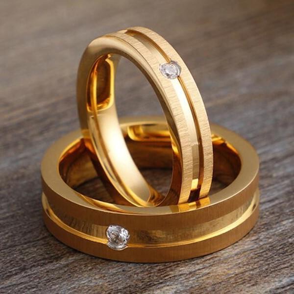 JaneE milgrain stainless steel promise rings for her comfortable for men-1