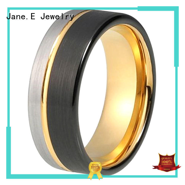 womens tungsten wedding bands meteorite for gift JaneE