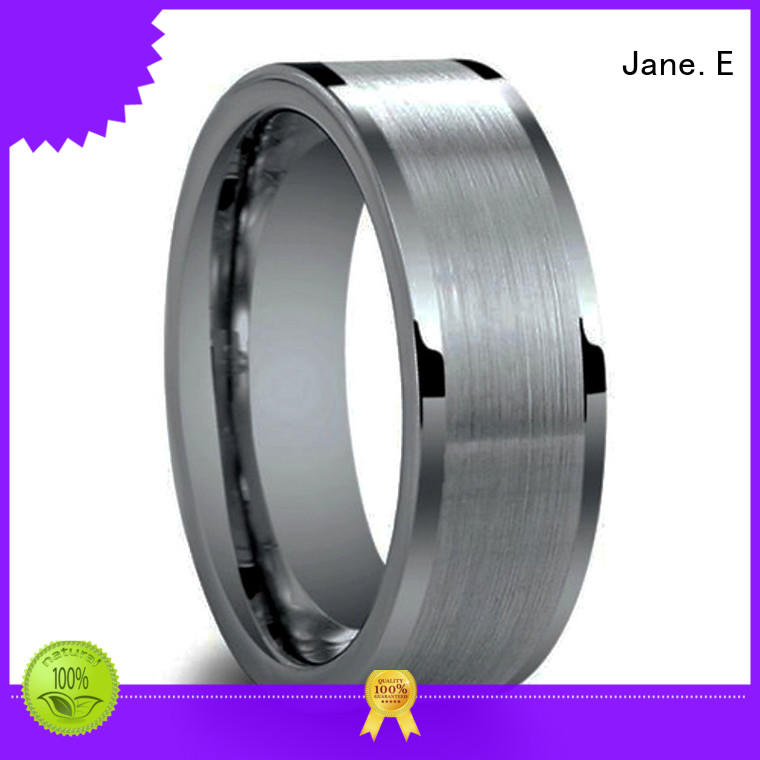 traditional tungsten engagement rings damascus texture engraved for engagement