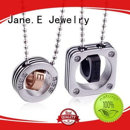 JaneE engraved stainless necklace different dimension for decoration