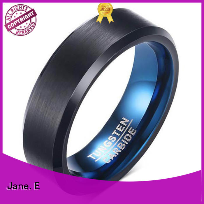 red opal mens wedding bands wood inlay exquisite for gift JaneE