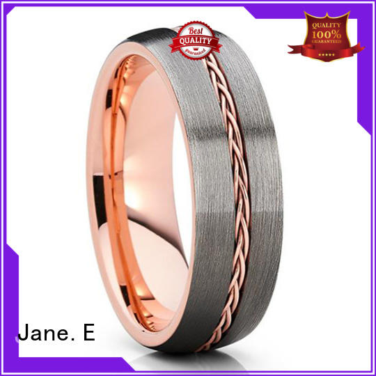 multi colors wood tungsten ring inlay brushed matt for engagement
