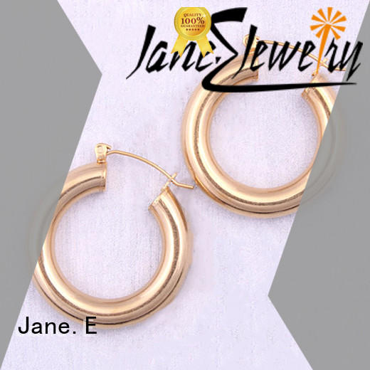 JaneE multi beads 316l stainless steel earrings ODM for women