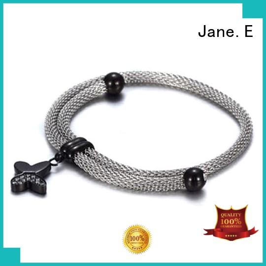 JaneE 316l stainless steel chain bracelet customized for women