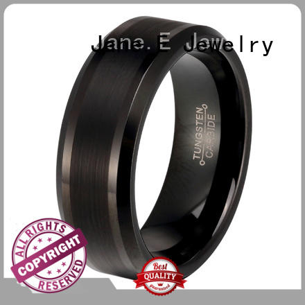 meteorite custom tungsten ring red opal for engagement JaneE