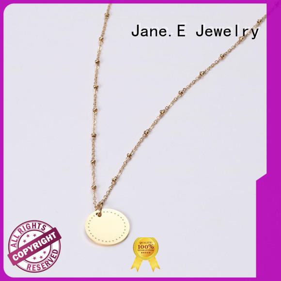 JaneE engraved stainless steel diffuser necklace different dimension manufacturer
