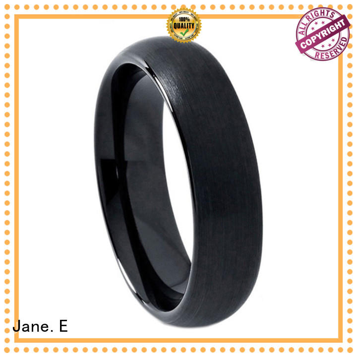 tungsten 6mm ring red opal for gift JaneE