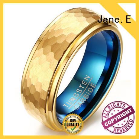 unique design 8mm tungsten ring matt for wedding JaneE