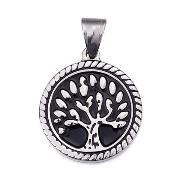 JaneE fashion mens stainless steel necklace pendants leather chain for necklace-3