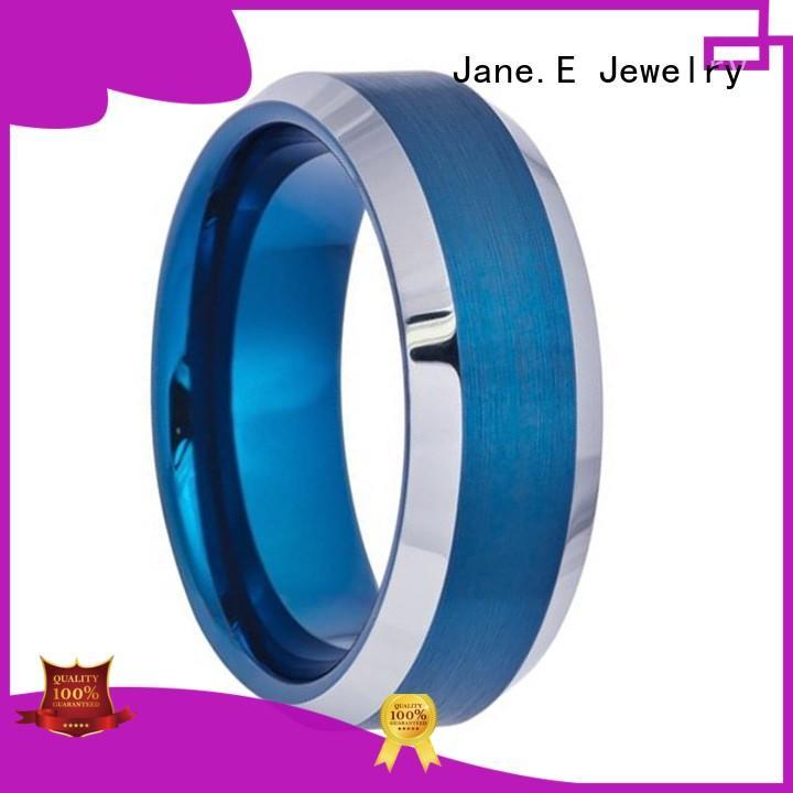 JaneE traditional tungsten carbide gold ring matt for wedding