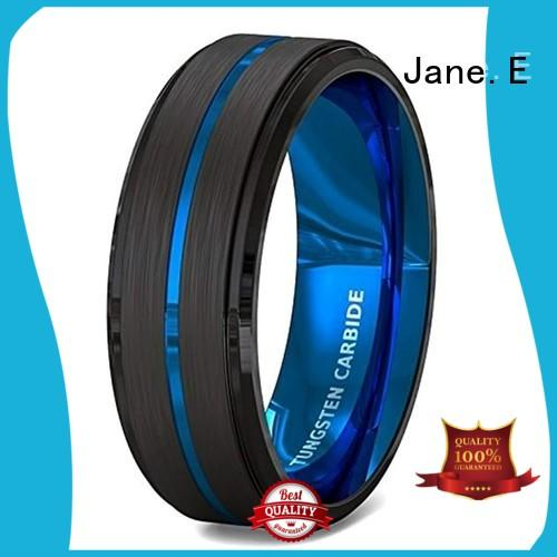 unique design custom tungsten carbide wedding bands engraved for gift JaneE