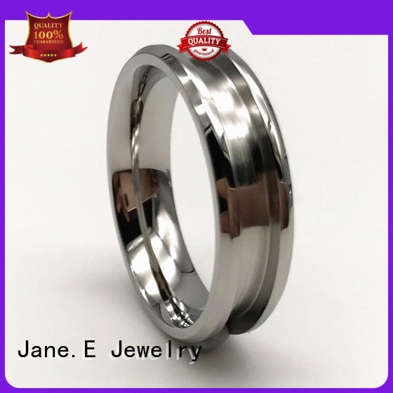 18k gold stainless steel ring core comfortable for men JaneE