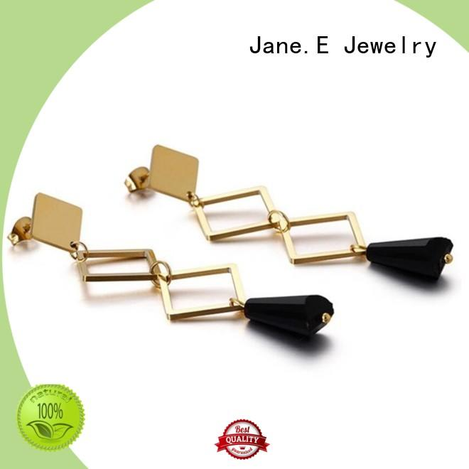 JaneE exchangeable 316l stainless steel earrings durable for decoration