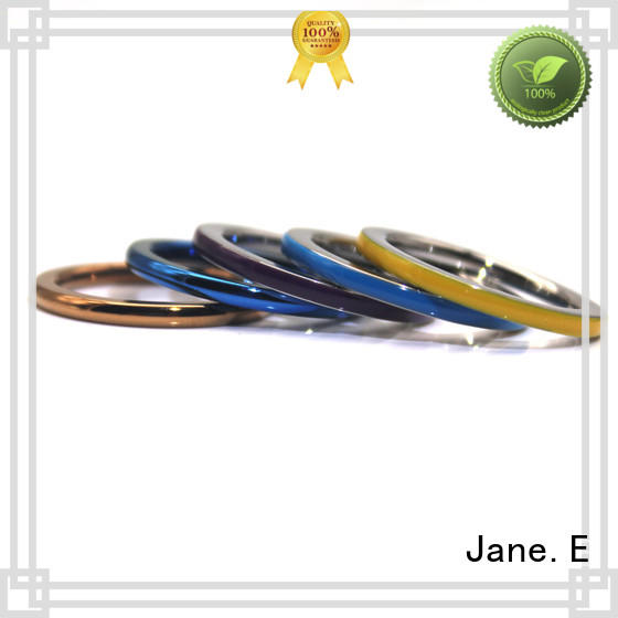 JaneE customized cheap stainless steel rings top quality for decoration