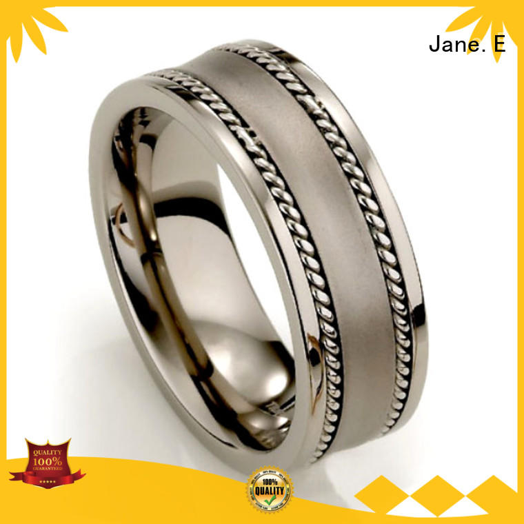 316l stainless steel brushed titanium wedding ring wholesale for wedding JaneE